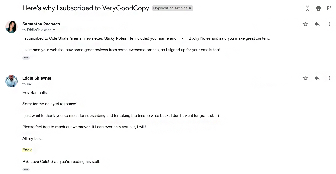 VeryGoodCopy Email Marketing Example   ADventure Marketing Tampa